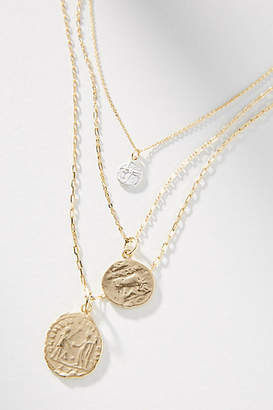 Anthropologie Relics Coin Necklace Set
