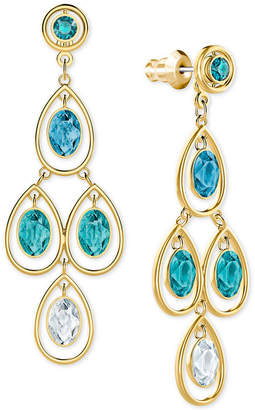 Swarovski Gold-Tone Ombre Crystal Chandelier Earring Jackets