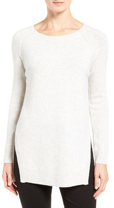 Women's Nordstrom Collection Side Slit Cashmere Sweater $299 thestylecure.com