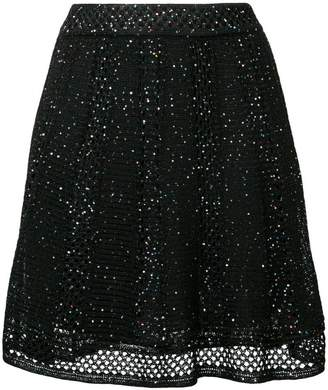 M Missoni sequin embroidered skirt