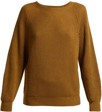Max Mara Boat-neck cotton and wool-blend sweater