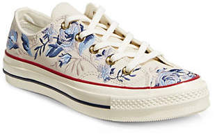 Converse Floral Lace-Up Sneakers