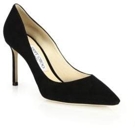 Jimmy Choo Romy 85 Suede Point Toe Pumps