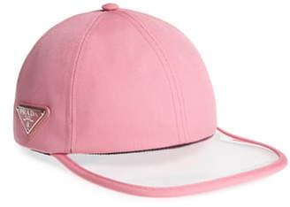 Prada Clear Brim Baseball Cap