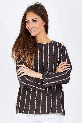 NEW Firefly Womens Blouses Bronte Top Size S TrackCharc - Tops