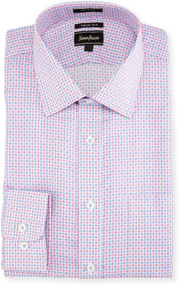 Neiman Marcus Trim-Fit Regular-Finish Check Dress Shirt