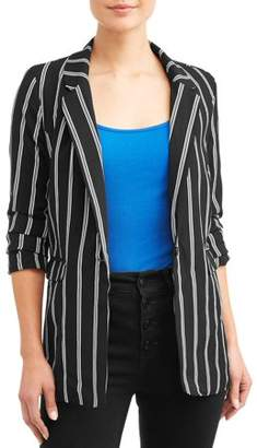 Miss Lili Juniors' Stripe Blazer