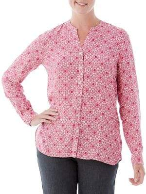 Olsen Berry Love Stars Blouse