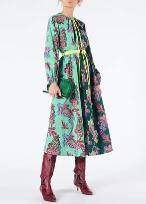 Tibi Paisley On Cotton Patchwork Dress