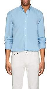 Barneys New York MEN'S COTTON POPLIN BUTTON-DOWN SHIRT-BLUE SIZE L