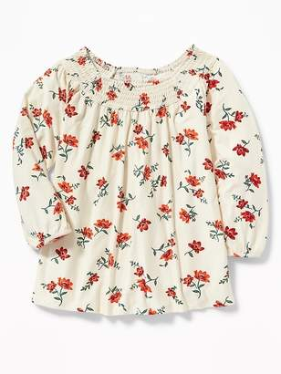 Old Navy Smocked Bubble-Sleeve Blouse for Girls