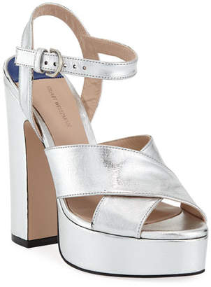 Stuart Weitzman Joni Metallic Platform Sandals