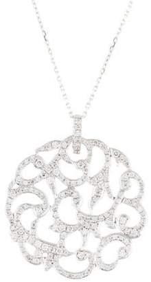 Suzanne Kalan 18K Diamond Filigree Pendant Necklace