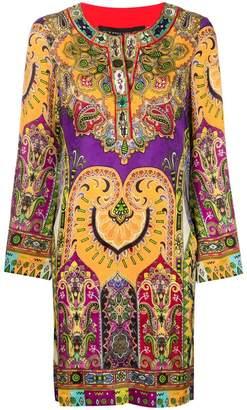 Etro short printed dress