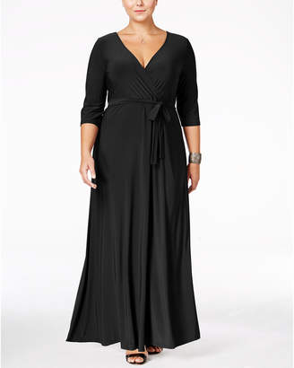 b4a50a81b5 Love Squared Plus Size Faux-Wrap Maxi Dress