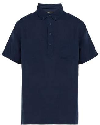 Onia Josh Cotton Shirt - Mens - Navy