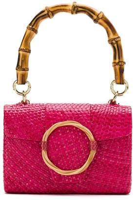 Serpui Marie straw embellished clutch
