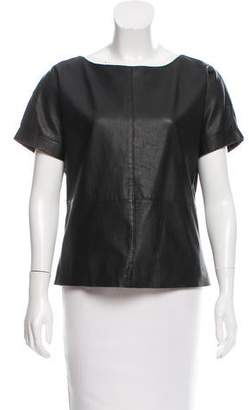 Sara Berman Short Sleeve Leather Top