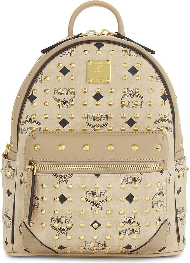 MCMMcm Diamond Visetos coated canvas mini backpack
