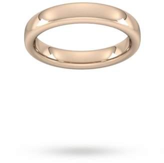 4mm Slight Court Extra Heavy Wedding Ring In 9 Carat Rose Gold