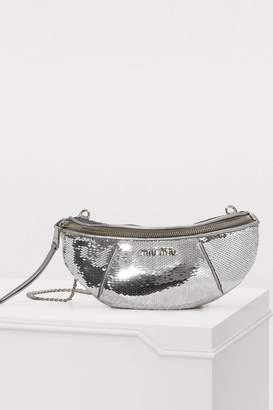 Miu Miu Sequin belt bag