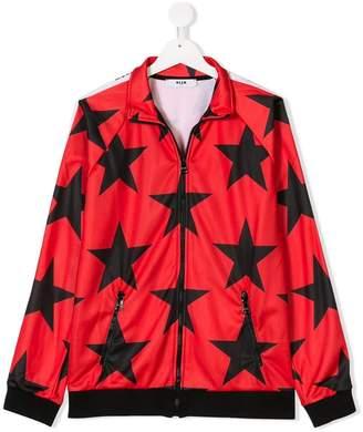 MSGM TEEN star print jacket