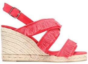 Castaner Fringed Canvas Espadrille Wedge Sandals
