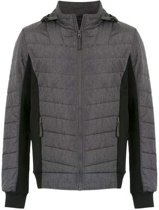 Track & Field panelled padded jacket