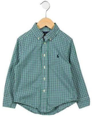Ralph Lauren Toddler Boys' Gingham Button-Up Shirt