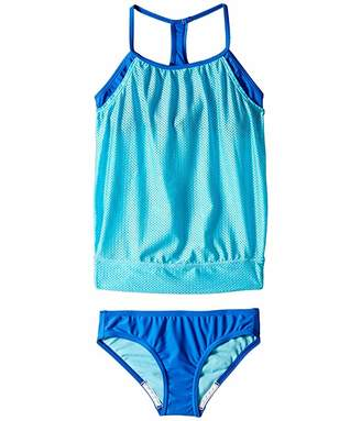 Speedo Kids Blouson Tankini Two-Piece Swimsuit Set (Big Kids)