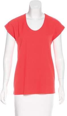Diane von Furstenberg Scoop Neck Short Sleeve Top