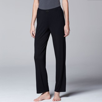 Vera Wang Women's Simply Vera Pajamas: Basic Solid Luxury Pajama Pants