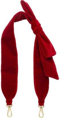 Miu Miu Velvet shoulder strap with bow
