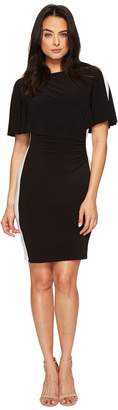 Lauren Ralph Lauren Poline Two-Tone Matte Jersey Dress Women's Dress