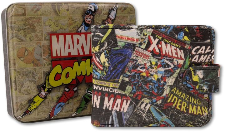 Marvel Comic Black Wallet with Outside Print