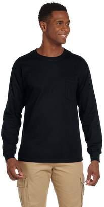 Gildan Men's Ultra Cotton Long Sleeves Pocket T-Shirt__4XL