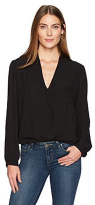 Lark & Ro Women's Draped Front Top