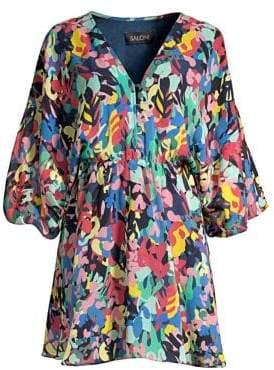 Saloni Nikki Abstract Print Mini Dress