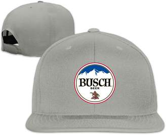 Oops Times Cap Solid Adult Busch Light Beer Flat Bill Baseball Cap