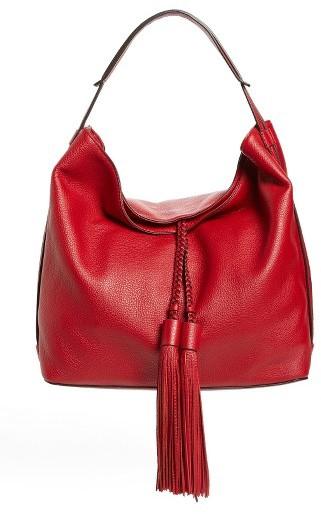 Rebecca MinkoffRebecca Minkoff 'Isobel' Tassel Leather Hobo - Red