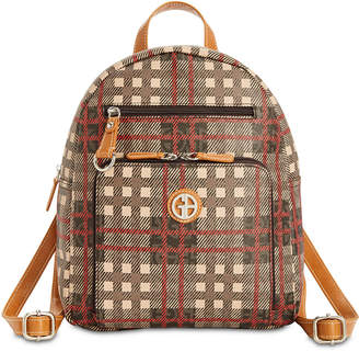 Giani Bernini Plaid Signature Backpack, Created for Macy's