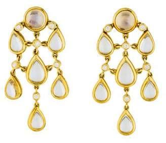 Temple St. Clair 18K Moonstone & Diamond Chandelier Earrings