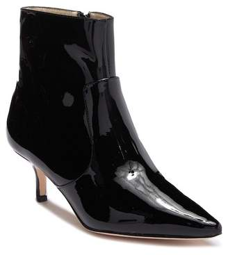 Bettye Muller Astor Kitten Heel Patent Leather Bootie