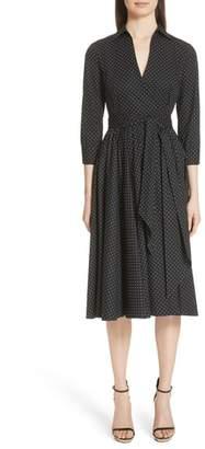 Michael Kors Polka Dot Wrap Front Dance Dress