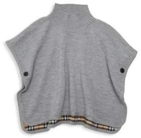 Burberry Little Girl's& Girl's Beatrix Wool Poncho