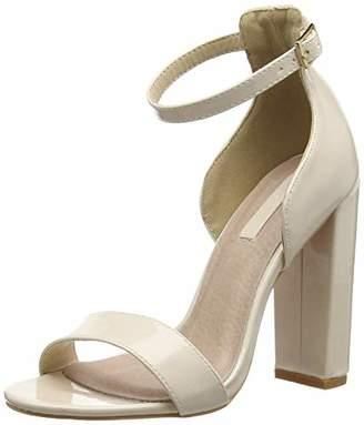 96f5e3edd39d Lost Ink Women s Lexi Low Counter Block Heel Sandal Open Toe (Silver 0094)
