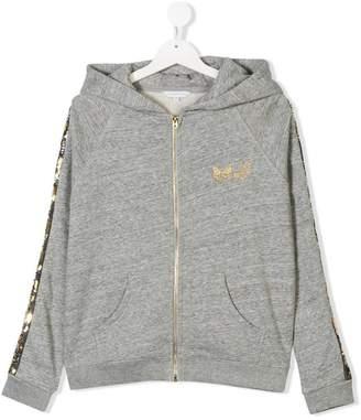 Little Marc Jacobs TEEN sequin stripe hoodie