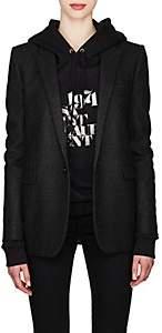 Saint Laurent Women's Cotton Flannel Blazer - Black
