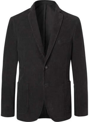 Officine Generale Charcoal Slim-Fit Unstructured Cotton-Corduroy Blazer