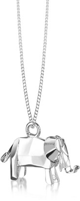 Nuovegioie Origami Sterling Silver Elephant Pendant Necklace